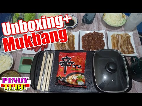 2 In 1 Electric Grill With Hot Pot Unboxing + Mukbang - Pinoytube