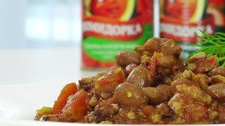 Говядина с фасолью и томатами видео рецепт