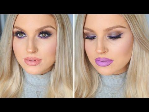 Chit Chat GRWM! ♡ Bold Purple Liner & Two Lip Options! - 동영상