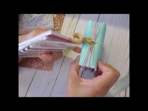 NO SEW...Micro Travelers Notebook Cover Tutorial