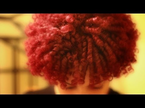 HOT RED Color on Natural Hair - YouTube