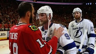 Blackhawks and Lightning shake hands