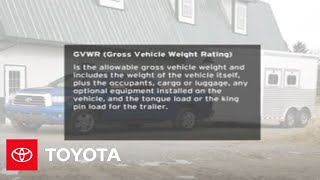2008 - 2009 Tundra How-To: Towing: Reference | Toyota