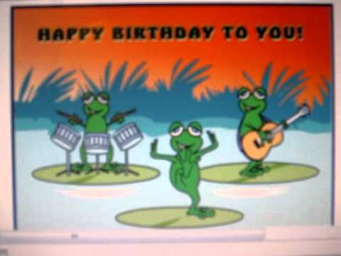 Dancing Birthday Frog