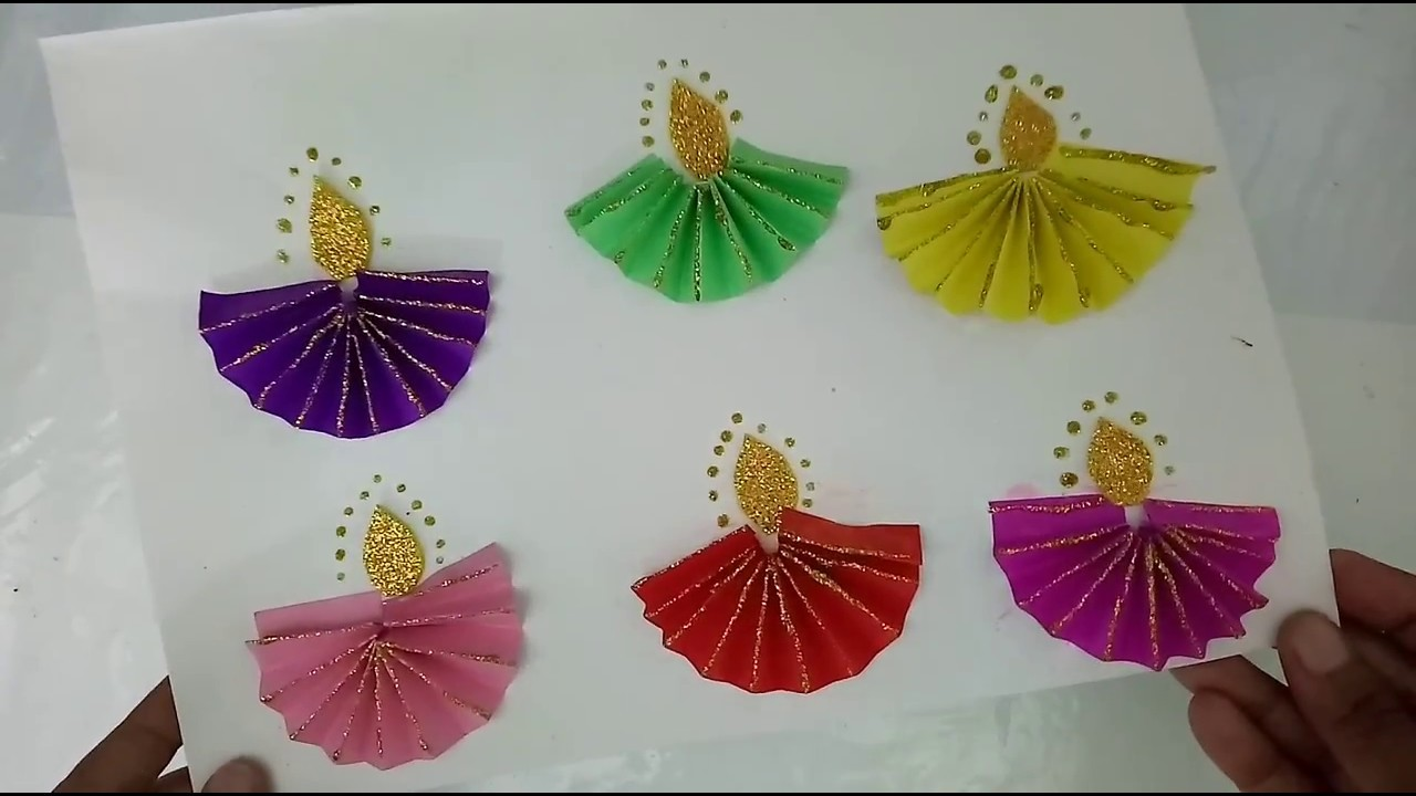 diwali craft ideas for children paper fold diyas for diwali craft how to craftlas 6447