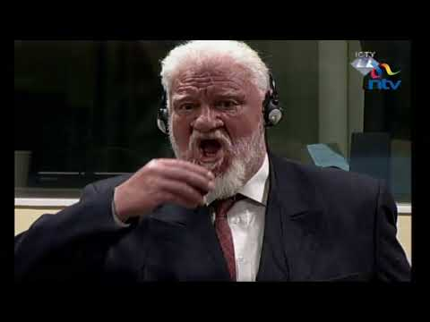 Chaos at UN court as Bosnian Croat war crimes defendants took what he said was poison