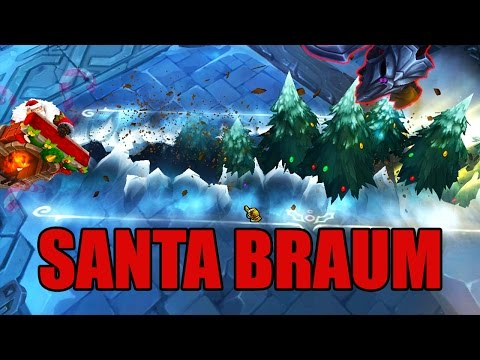 LoL Santa Braum Christmas Skin Spotlight - League of Legends