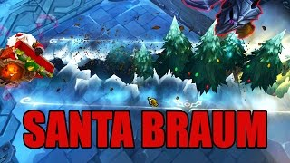 LoL Santa Braum Christmas Skin Spotlight - League of Legends
