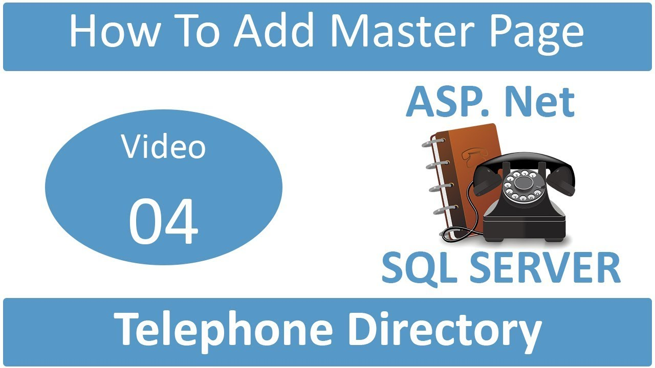 how to add master page in telephone directory | Noble Infotech Rajkot