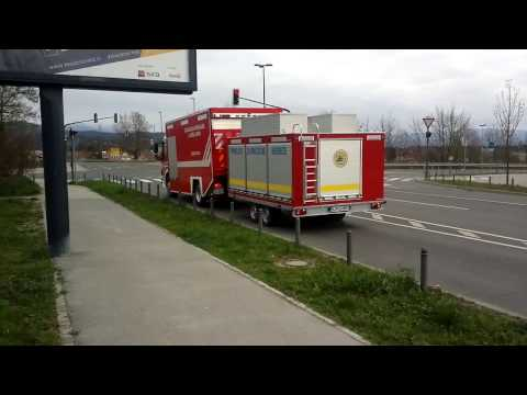 GBL Ljubljana fire brigade and UKC Ambulances responding