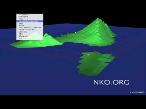 Virtual Maui VRML World UFO Fly Through Video