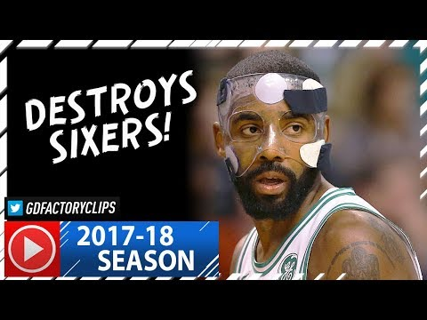 Masked Kyrie Irving Full Highlights vs Sixers (2017.11.30) - 36 Pts, NASTY!