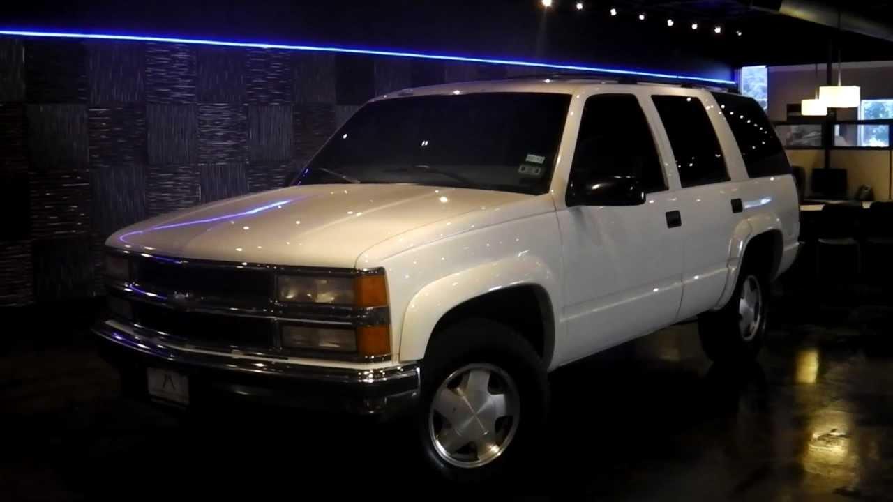 1997 Chevrolet Tahoe For Sale Dallas TX White | Addison Motorcars ...