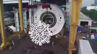 Bella the Tunnel Boring Machine - first test assembly in China