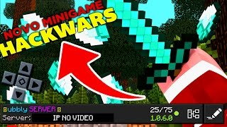 NOVO MINIGAME HACKWARS NO MINECRAFT PE 1.0.6 - ( Minecraft Pocket Edition )