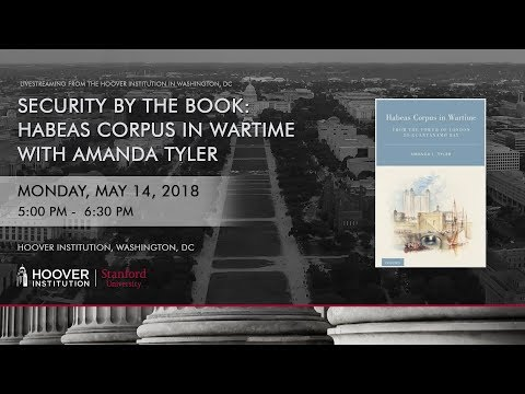 """A discussion with Amanda Tyler on """"Habeas Corpus in Wartime"""""""
