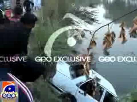 Geo Dost Daska..video of 4 prsons drown in DASKA BRB canal- Aap ki apni Khabar.flv