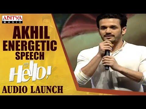 Akhil Energetic Speech @ HELLO! Movie Audio Launch | Akhil Akkineni, Kalyani Priyadarshan
