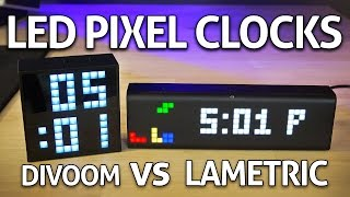 Smart LED Pixel Clock: Divoom Timebox Mini vs LaMetric REVIEW!