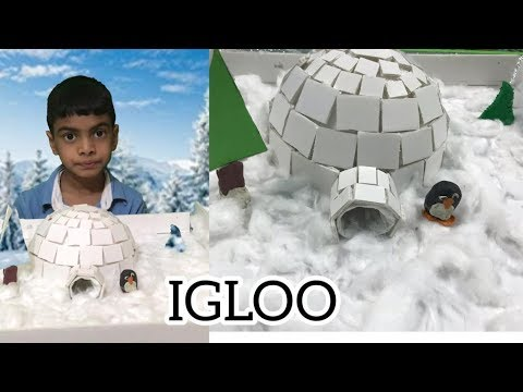 How To Make IGLOO For School Project || DIY Igloo || Ep: 69