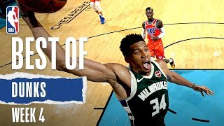 NBA's Best Dunks | Week 4 | 2019-20 NBA Season Video