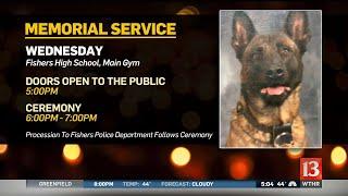 Memorial Service For K-9 Officer Harlej