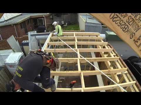 Installing Cross Bracing To A Skillion Roof Youtube