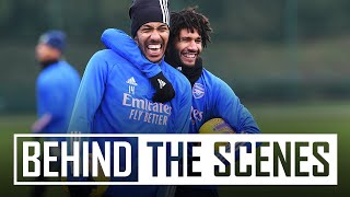 🥳  Happy New Year! First session of 2021 | Behind the scenes at Arsenal training centre