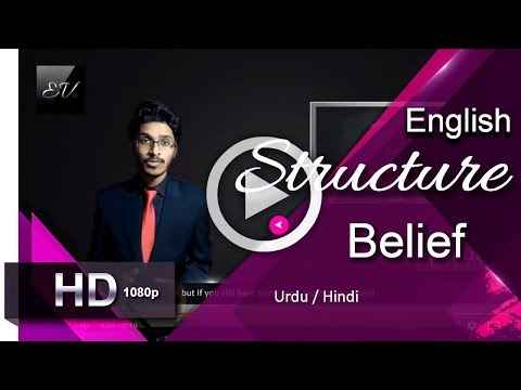Thoughts (English Structure) I Part 2 - Belief I English Learning Lessons [Urdu/Hindi]