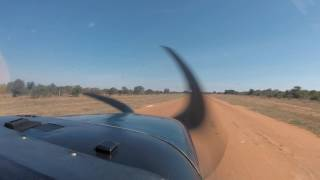 Cessna 210 Approach & Landing - Botswana International Airshow 2017