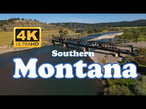 Aerial Southern Montana - Billings, Bozeman, Yellowstone & Madison River