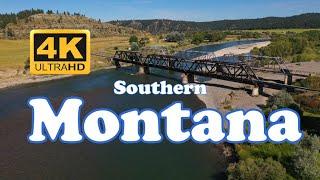 Aerial Southern Montana - Billings, Bozeman, Yellowstone & Madison River