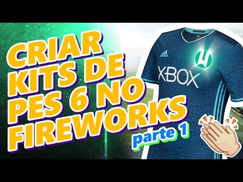 PES 6 | Como criar Kits (Uniformes) com Fireworks | By: Wesl Kitmaker