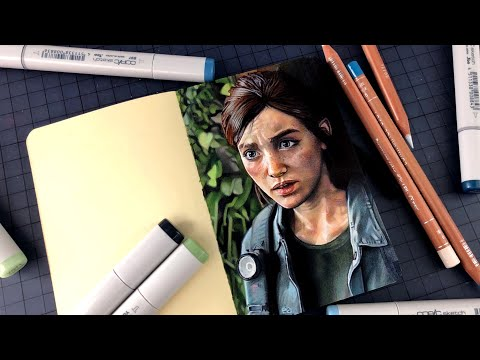 Drawing Ellie - The Last Of Us 2 | PS4