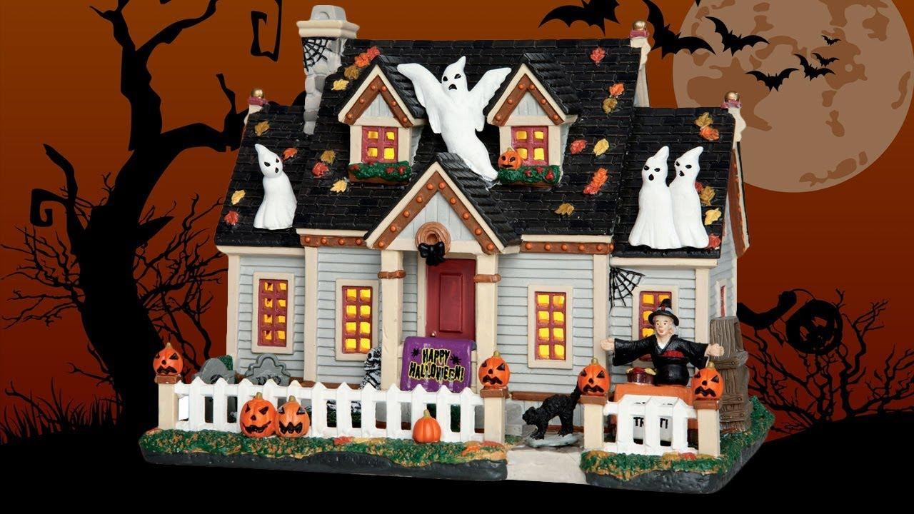 Trick Or Treat House Lemax Spooky Town Review Youtube