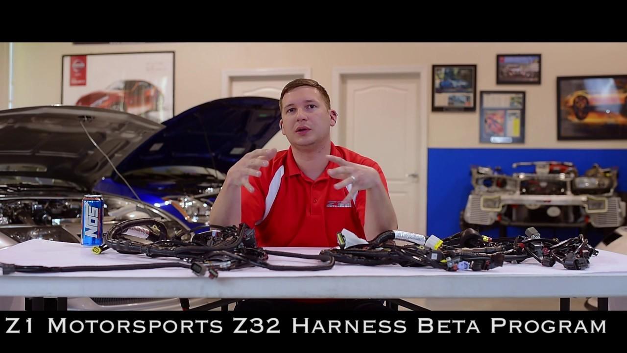 z1 motorsports - z32 300zx wiring harness beta program