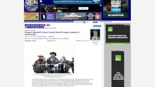 Burns Oregon--Grant County sheriff urges release of Hammonds