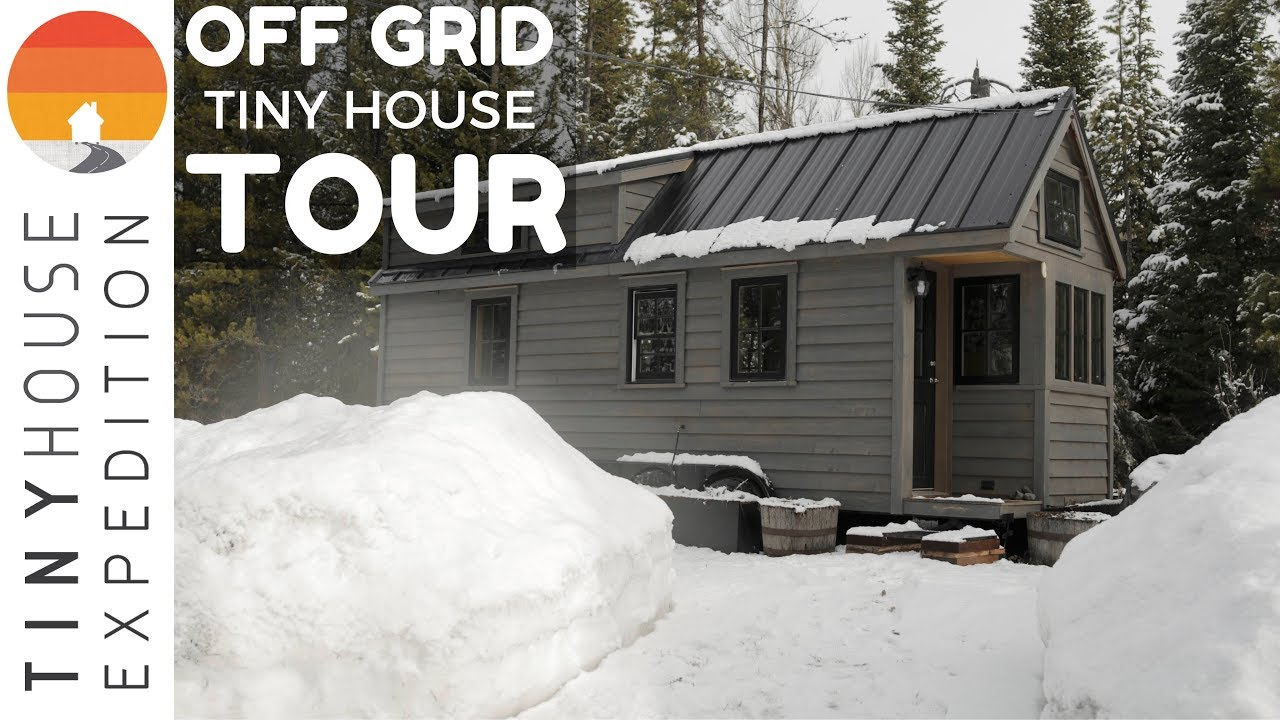 off grid tiny house tour fy nyth nestled in wyoming mountains youtube. Black Bedroom Furniture Sets. Home Design Ideas
