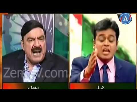SHEIKH RASHEED BEST ANS TO INDIA Sheikh Rasheed Blasting On India Media