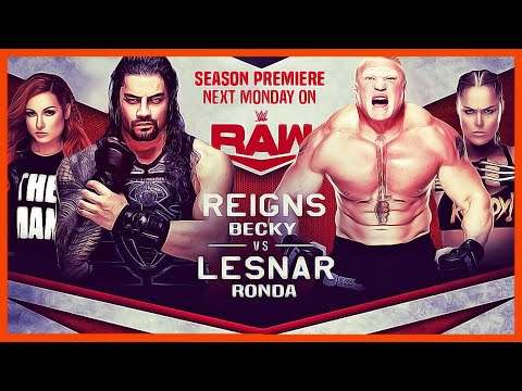 WWE 2K20 : Roman Reigns & Becky Lynch Vs Brock Lesnar & Ronda Rousey - Mixed Tag Team | Wwe Raw 2020