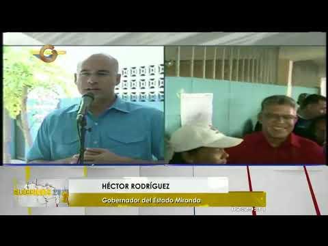 """Héctor Rodríguez llamó seguir desarrollando las elecciones en """"paz y armonía"""""""