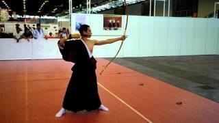 Démonstration de kyudo lors de la Japan Expo 2014