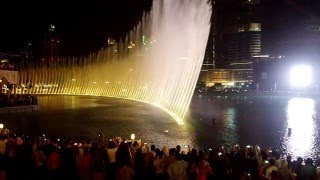 Dubai Mall Dancing Fountain