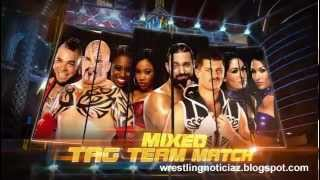 Brodus, Tensai, Cameron y Naomi vs. Team Rhodes Scholars y The Bella Twins en WrestleMania 29