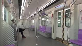 バンコクMRT パープルライン 車内の様子(Yaek Tiwanon→Ministry of Public Health) / Interior of Bangkok MRT Purple Line