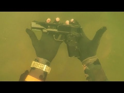 Found Gun Underwater in River While Scuba Diving for Lost Valuables! Dangerous Diving Spot