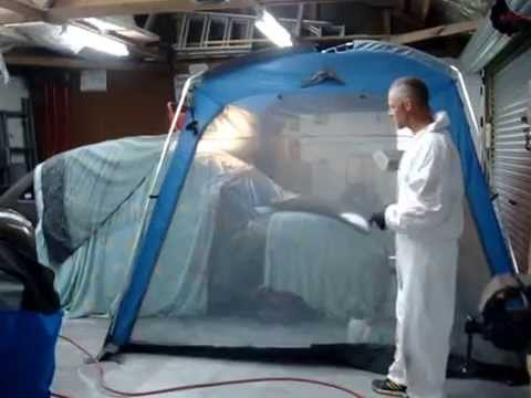 Pop Up Paint Booth >> 100 dollar portable Spray booth - YouTube