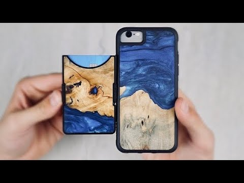 Carved Wood Resin iPhone Case and Wallet Review