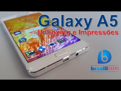 Galaxy A5 - Unboxing e Impressões