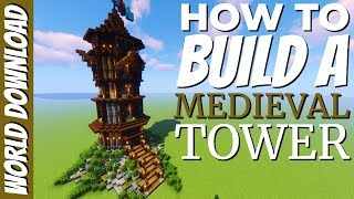 How to build a tower in Minecraft Survival: Minecraft Tower Tutorial Minecraft 1.15 (Avomance 2020)